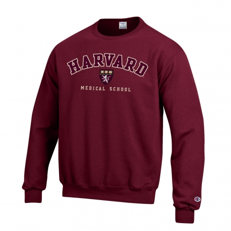 Harvard Medical School Applique Crew Neck Sweatshirt