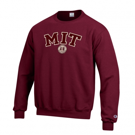 MIT Champion Applique Crew Neck Sweatshirt