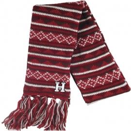 Harvard Maroon Knit Scarf w/ Fleece lining
