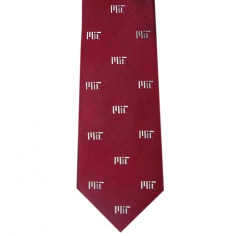 MIT Maroon Contemporary Silk Tie