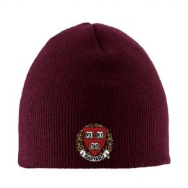 Maroon Skull Hat w/ Fleece Lining
