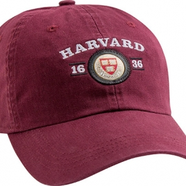 Harvard Veritas Maroon Medallion Hat