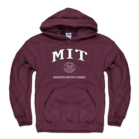 MIT Maroon Hooded Sweatshirt