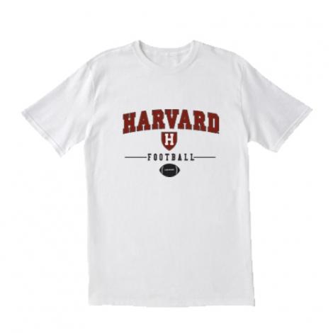 Youth Harvard Football Grey or White T Shirt