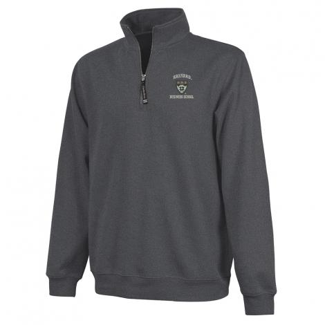Harvard Medical 1/4 Zip Crosswind Graphite Sweatshirt