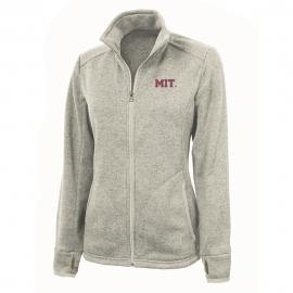 Women's MIT Oatmeal Heathered Fleece Full Zip Jacket
