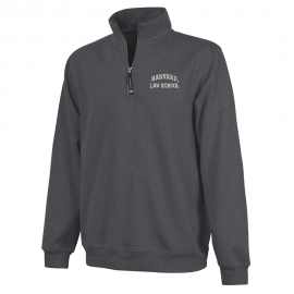 Harvard Law 1/4 Zip Crosswind Granite Sweatshirt