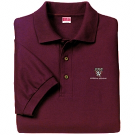 Harvard Medical School Maroon Embroidered Polo