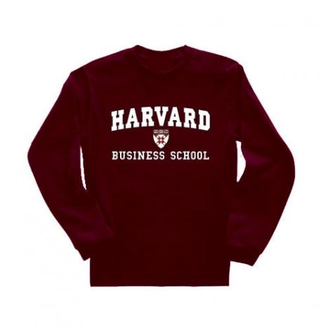 Business School Maroon Long Sleeve T Shirt