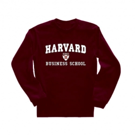 Business School Maroon Long Sleeve T Shirt