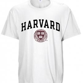 Harvard Veritas White T Shirt