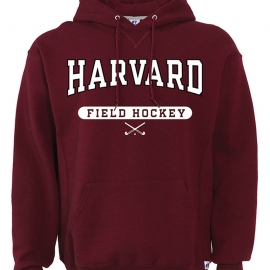 Harvard Maroon Hooded Field Hockey Sweatshirt