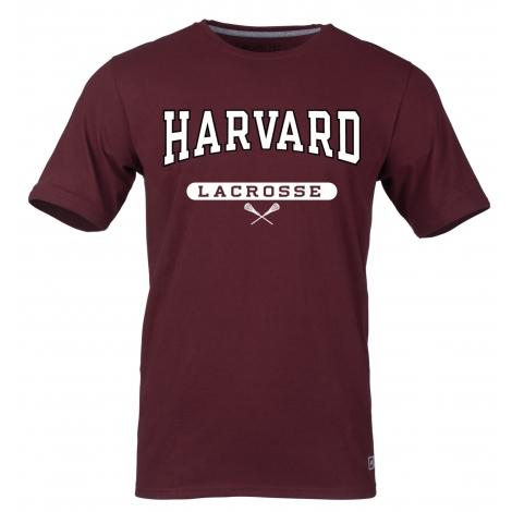 Harvard Maroon Lacrosse Tee Shirt