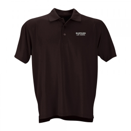 Harvard Law School Wicking Micro Mesh Maroon Polo