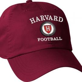 Harvard Athletic Shield Medallion Crimson Football Hat