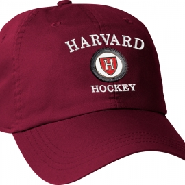 Harvard Athletic Shield Medallion Crimson Hockey Hat