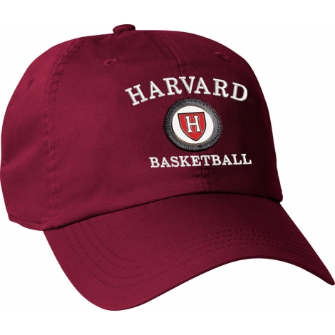 Harvard Athletic Shield Medallion Crimson Basketball Hat