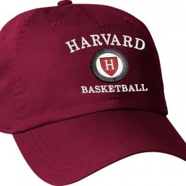 Harvard Athletic Shield Medallion Crimson Basketball Hat