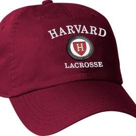 Harvard Athletic Shield Medallion Crimson Lacrosse Hat