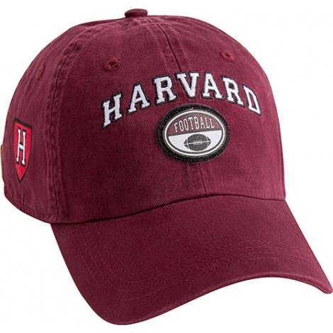 Harvard Maroon Sports Hat with Athletic shield on side