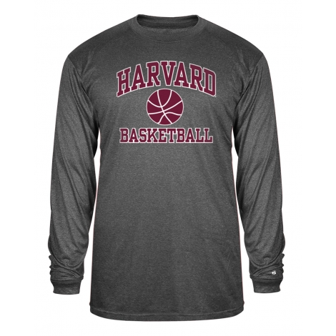 Harvard Performance Basketball Carbon Long Sleeve Tee Shirt