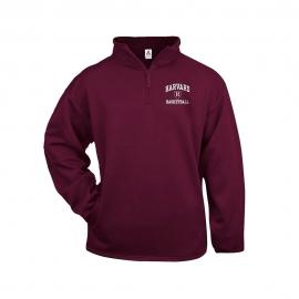 Harvard Basketball Maroon 1/4 zip Performance Sweatshirt