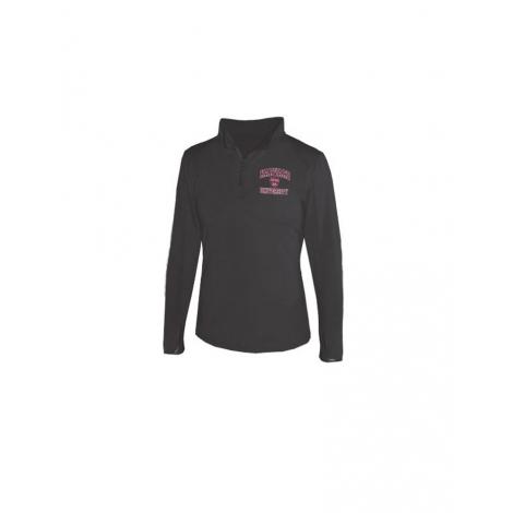 Women's Performance Black 1/4 zip Jacket