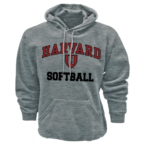 Harvard Grey Athletic Softball Hooded Sweatshirt