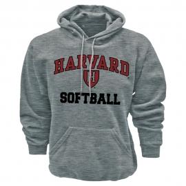 Harvard Grey Athletic Softball Hooded Sweatshirt