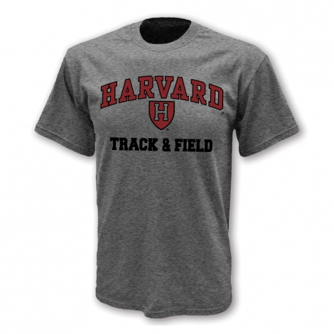 Harvard Track & Field Athletic Shield T Shirt