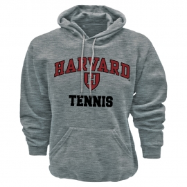 Harvard Grey Athletic Tennis Hooded Sweatshirt