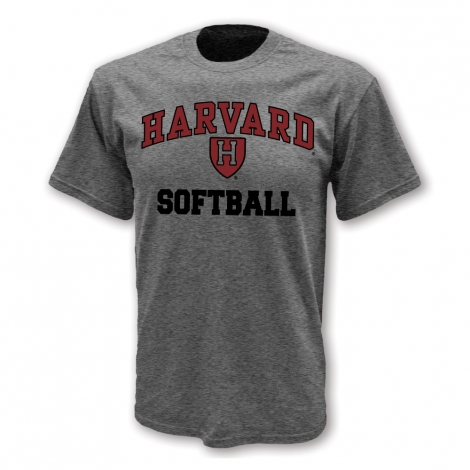 Harvard Softball Athletic Shield T Shirt