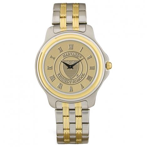 Harvard Men's Two-Tone Rolled Link Bracelet Wristwatch