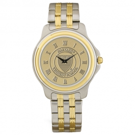 Harvard Men's Two-Tone Rolled Link Bracelet Wristwatch