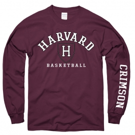 Harvard Athletics Basketball Maroon Long Sleeve T Shirt