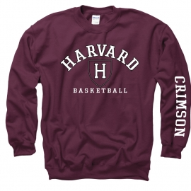 Harvard Athletics Basketball Maroon Crew Sweatshirt