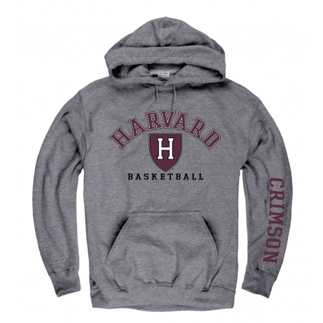 Harvard Athletic Shield Grey Hooded Sweatshirt