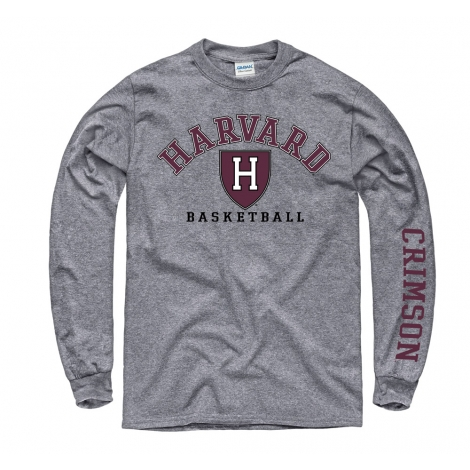 Harvard Athletics Basketball Grey Long Sleeve T Shirt