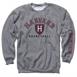 Harvard Athletics Grey Crew Basketball Sweatshirt