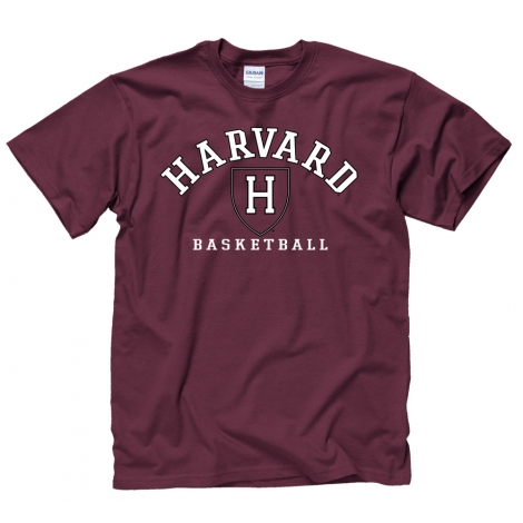 Harvard Athletics Basketball Tee Shirt