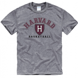 Harvard Athletics Grey Basketball T Shirt