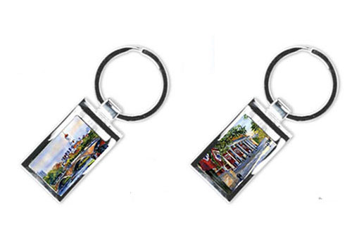 Full Color Waitkus Silver Key Chains