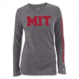 New! Women's Grey Freshy MIT Long Sleeve T Shirt