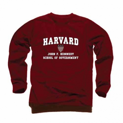 Harvard Maroon Kennedy School of Government Crew Sweatshirt