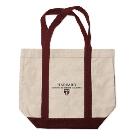 Harvard School of Dental Medicine Medium Embroidered Tote Bag