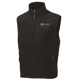 Men's Black Harvard T. H.Chan Ridgeline Fleece Vest