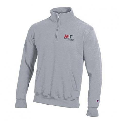 MIT Sloan School of Management  1/4 Zip Grey Sweatshirt