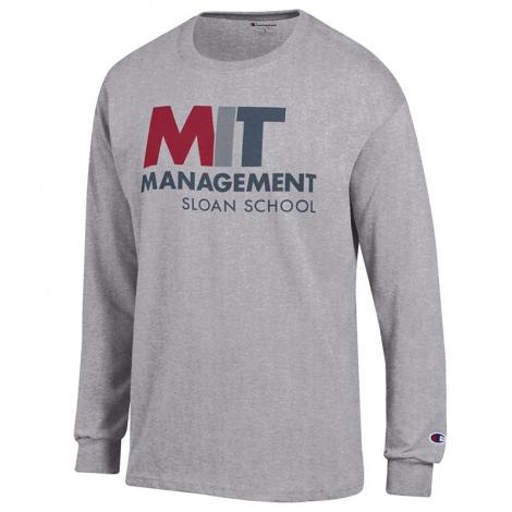 MIT Sloan School of Management Grey Long Sleeve T Shirt