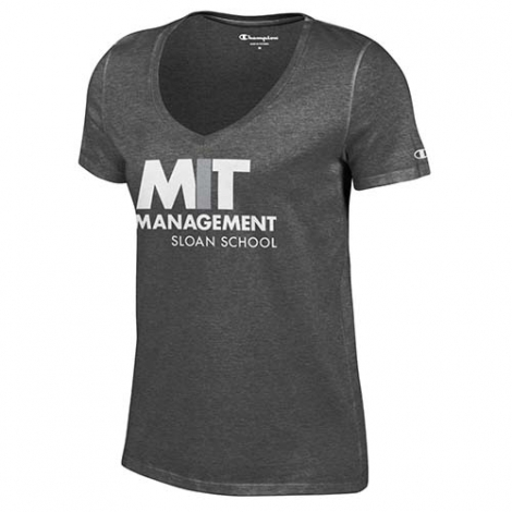 MIT Sloan School of Management Women's V Neck Granite T Shirt