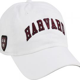 Harvard White Hat w/ Veritas Shield on Side